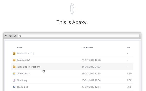 Apaxy Apache directory files listing style clean