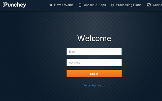 dark blue gradient login form design