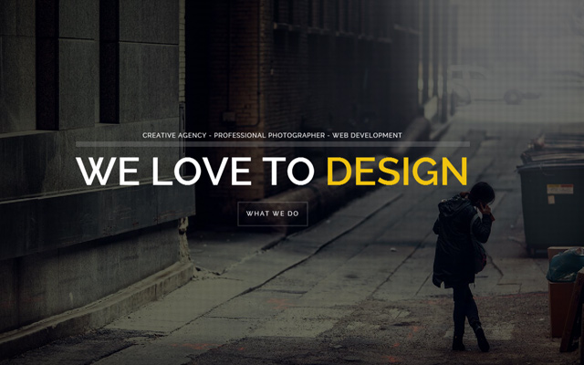 fullscreen wordpress creative portfolio brooklyn website