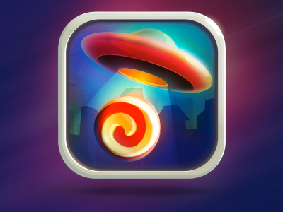 Candy UFO iOS game icon