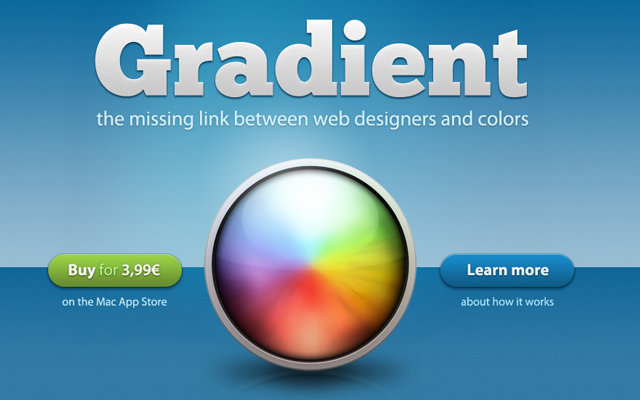 gradient app homepage layout design inspiration
