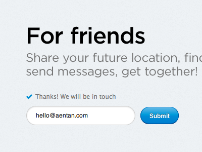Simple e-mail signup page webform