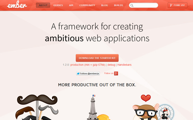 ember.js based javascript application library