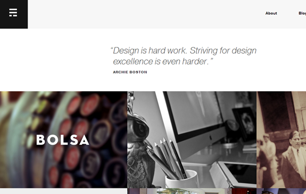 erik ford portfolio website layout