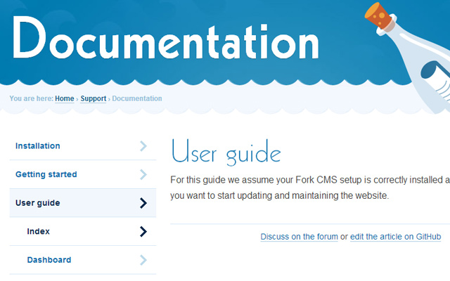 fork cms user guide online documentation