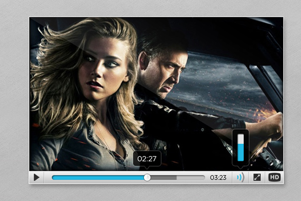 free video player ui design psd