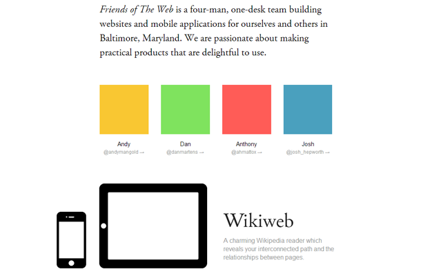 ftw friends of web design flat inspiration