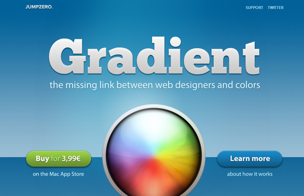 osx mac gradient app homepage layout