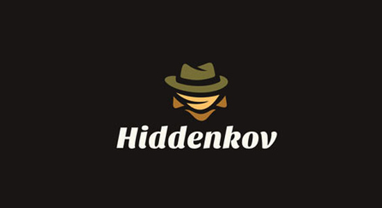 dark hiddenkov recognizable branding logo