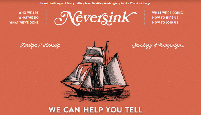 neversink creative agency navigation