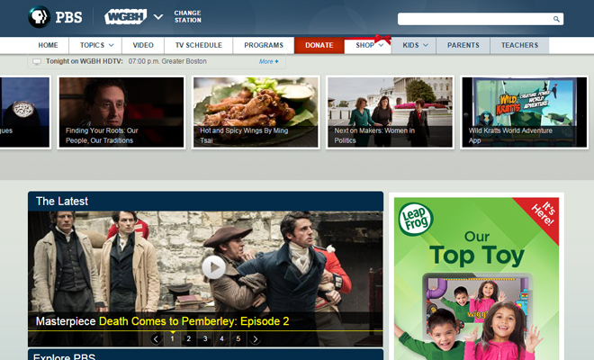 32 Examples of TV Network Websites for Design Inspiration