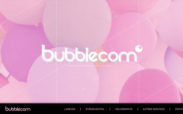 agency bubblecom pink website layout inspiring