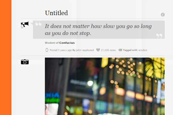 Tumblr blog theme Prologue
