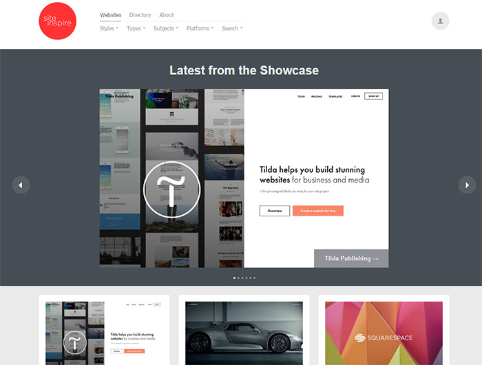 siteinspire gallery