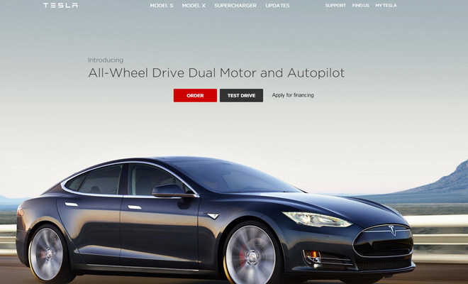 tesla motors car company website