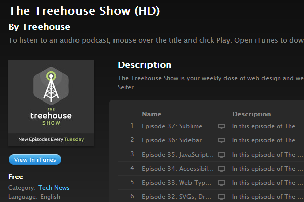 team treehouse blog website show podcast