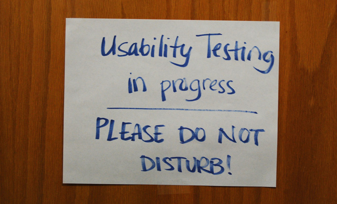 flickr usability testing sign on door
