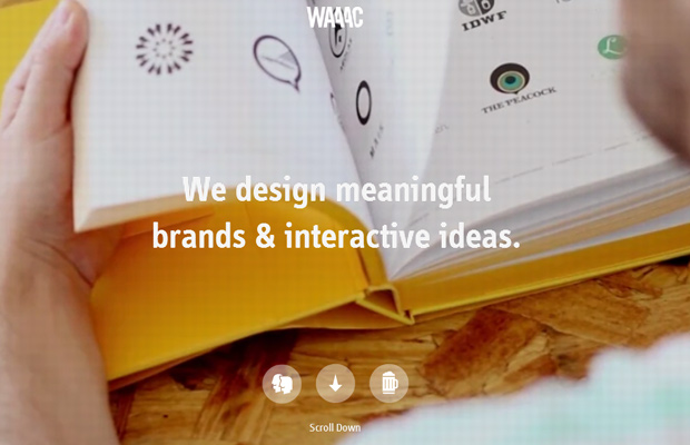 waaac branding website design homepage agency
