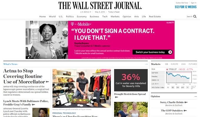 the wall street journal website