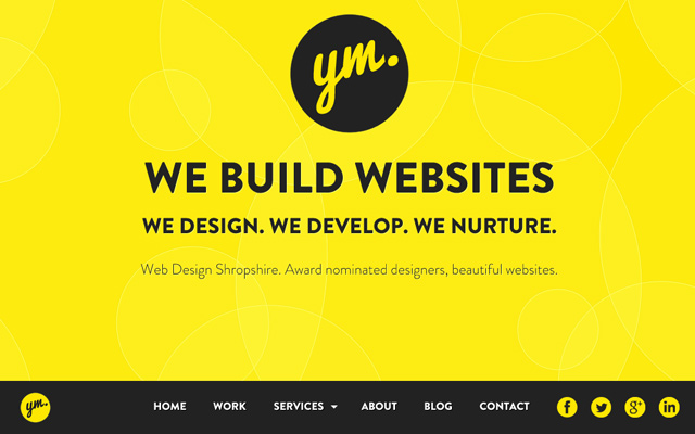 yellow marshmallow design studio interface homepage