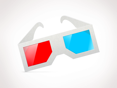alternate freebie 3-D glasses