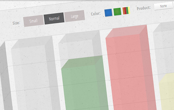 css3 animated bar chart interface website