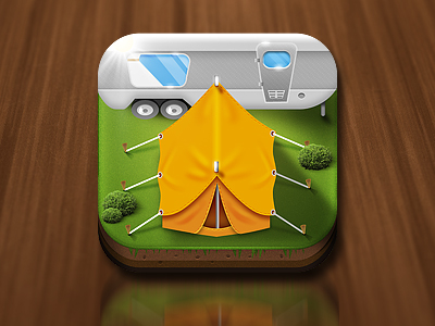 Camping iPhone App Icon