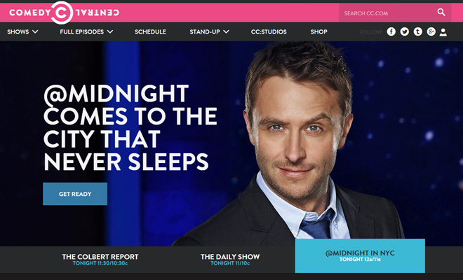 comedy central network viacom website