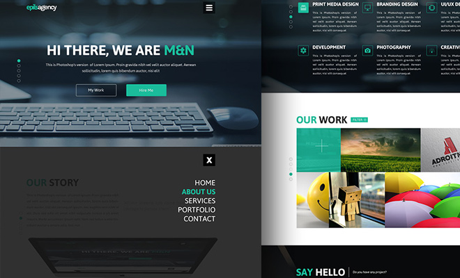 psd freebie website creative agency - Web Design Ideas