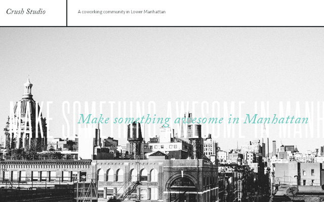 crush studio lower manhattan website layout