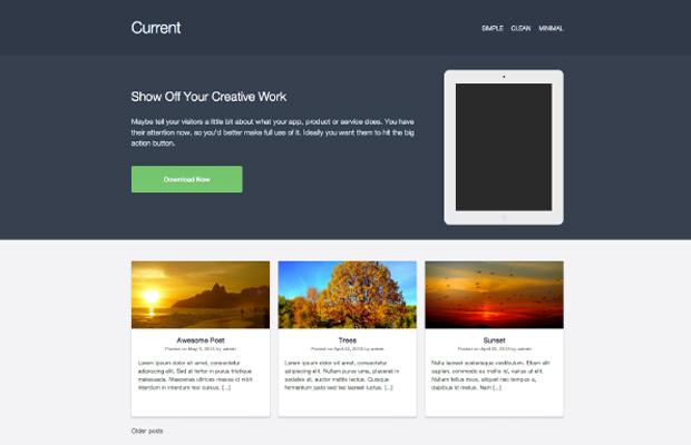 current wordpress theme free open source