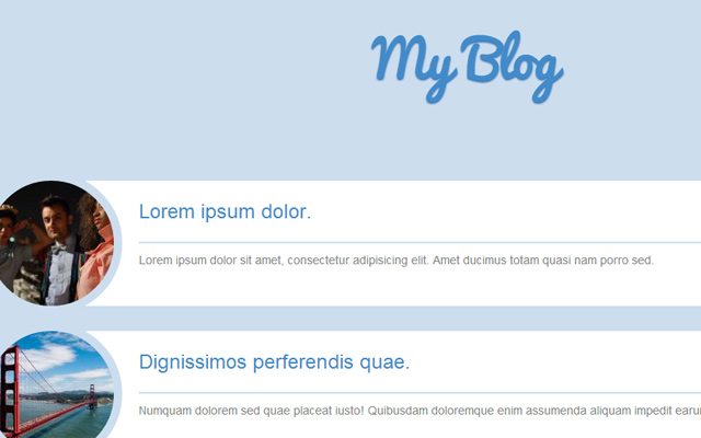 bs3 bootstrap flat blog layout freebie