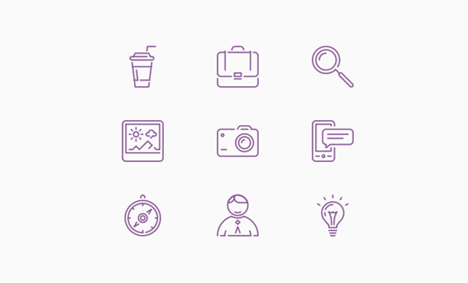 100 free line icons simple iconset freebie