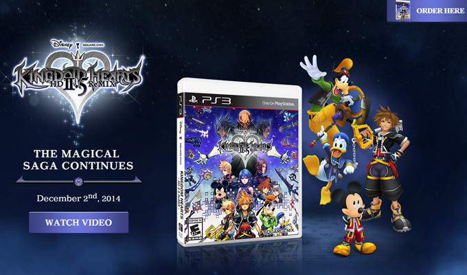kingdom hearts square enix homepage
