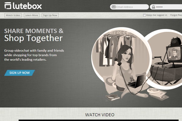 Lutebox homepage design