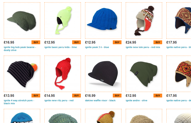 mean beanies ecommerce hats listing