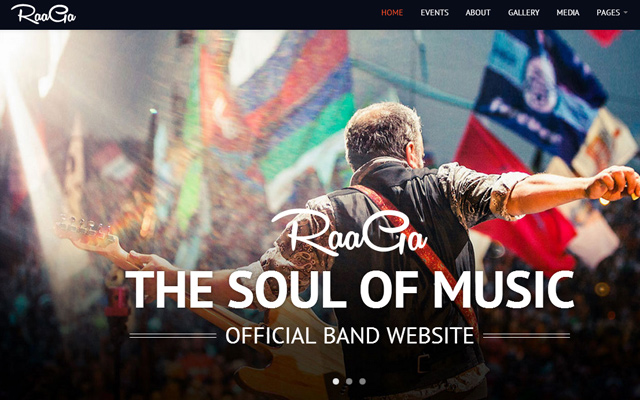 raaga website music band musician website