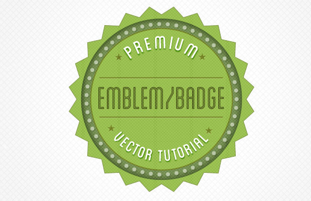 howto build retro badge button psd photoshop