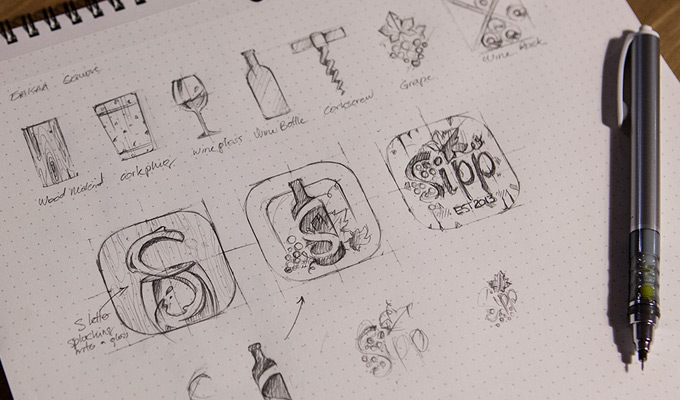 sketching ideas sipp icon apps