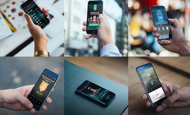 six photorealistic iphone6 mockups free