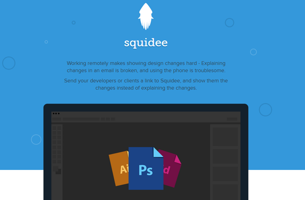 startup website flat interface design squidee