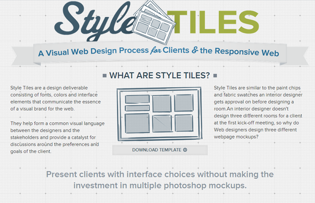 style tiles website homepage tools responsive