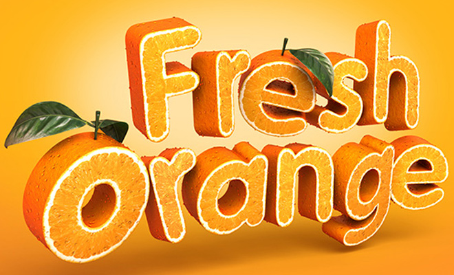orange fruit texture type effect