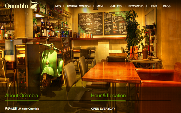 basic cafe restaurant big background website