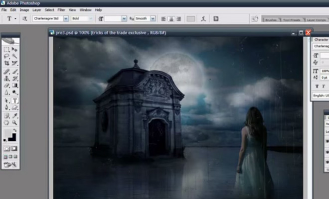 album cover video tutorial photoshop