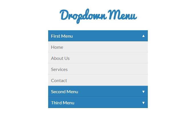 css3 animated dropdown accordion menu