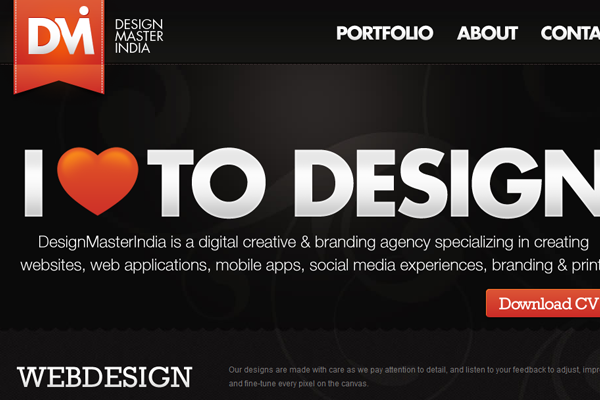 Design Master India website
