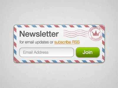 Newsletter signup page form template