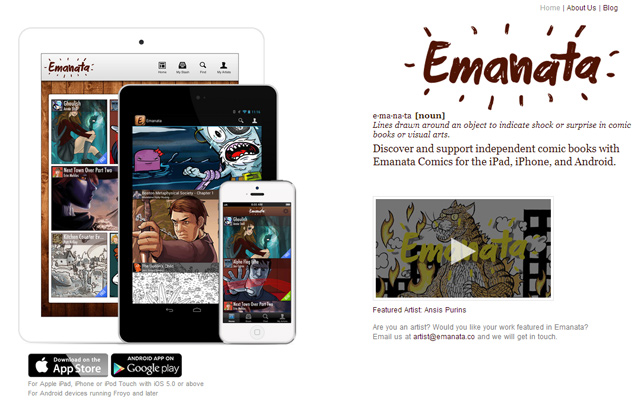 emanata ipad iphone indie comics app