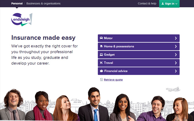 endsleigh insurance website